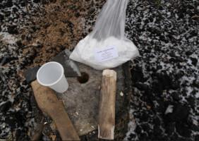 Удаление пней разложением при помощи селитры