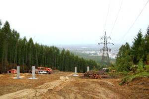 Вырубка леса под ЛЭП